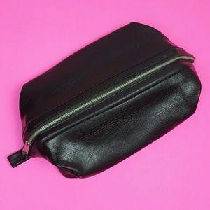 Vintage Black Shaving Kit/Toiletry Bag
